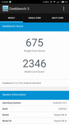 Geekbench 3 Balanced mode