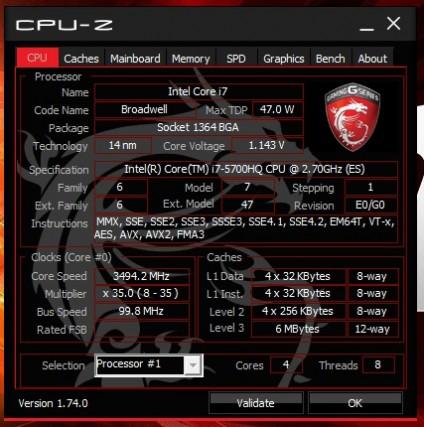 CPU-Z GP62