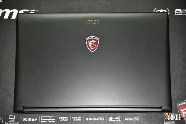 MSI GP62 lid