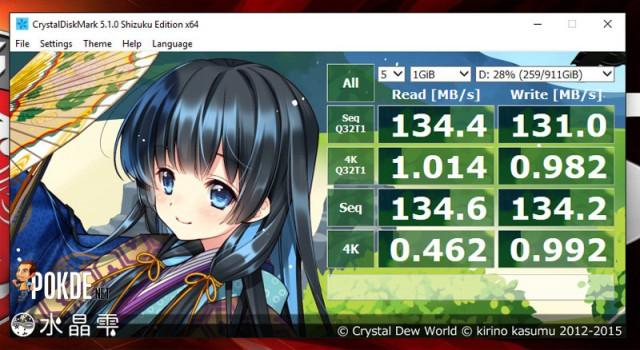 Crystaldiskmark GT72s HDD