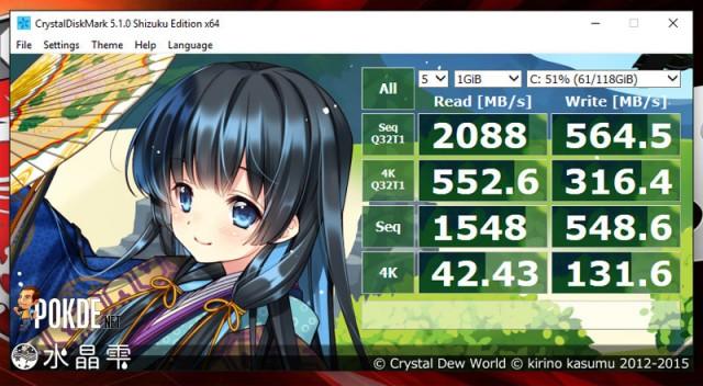Crystaldiskmark GT72s SSD