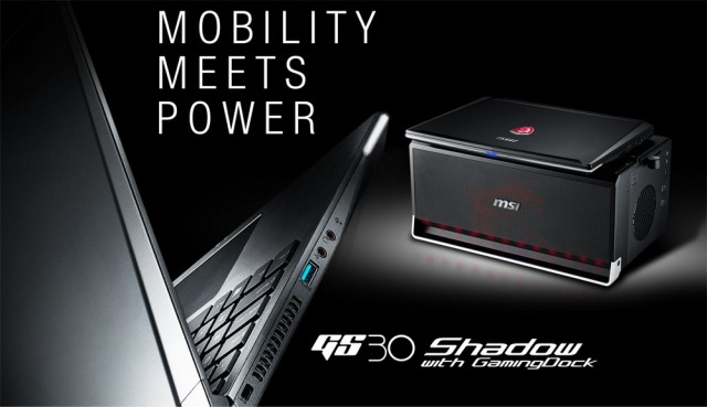 MSI GS30 and dock