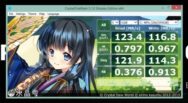MSI PE60 CrystalDiskMark