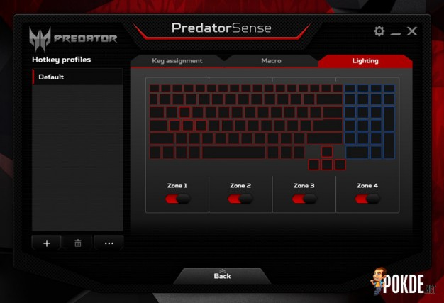 Predator 15 lighting