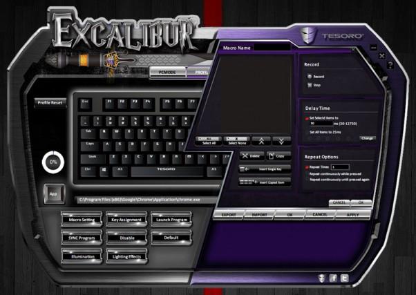 Tesoro Excalibur Spectrum driver 4