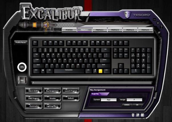 Tesoro Excalibur Spectrum driver 5