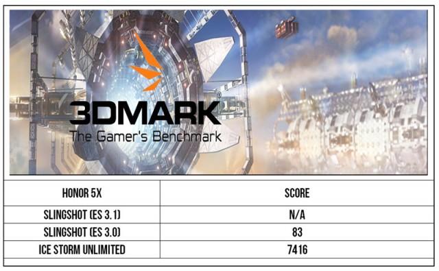 Honor 5X 3Dmark