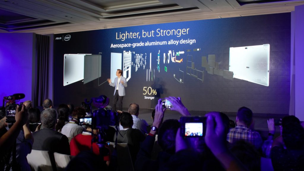 But Asus is not keen in keeping secrets. Aerospace-grade aluminium alloy design is how they achieved it. Not just it's lighter, it's tougher. Aerospace is rocket science - in which all the hard work is already done. You just need to reuse it.