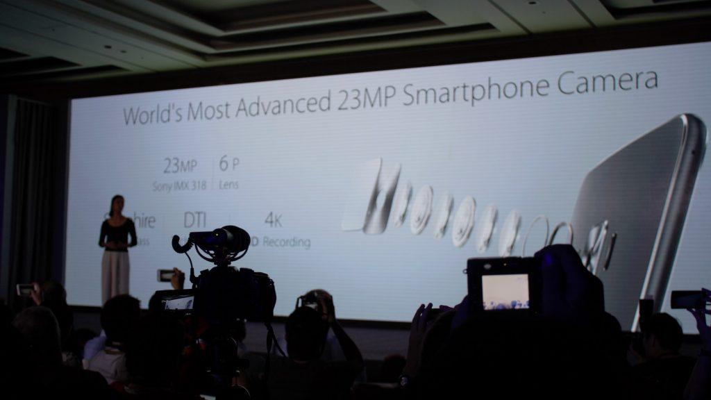 23MP Sony IMX318 sensor. Bye-bye Toshiba sensor.