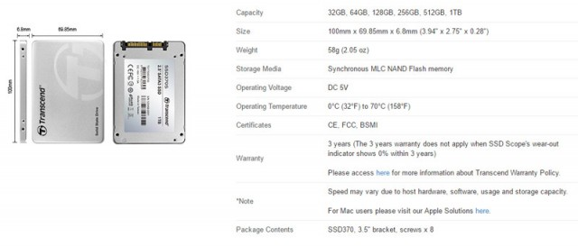 Transcend SSD370S-9