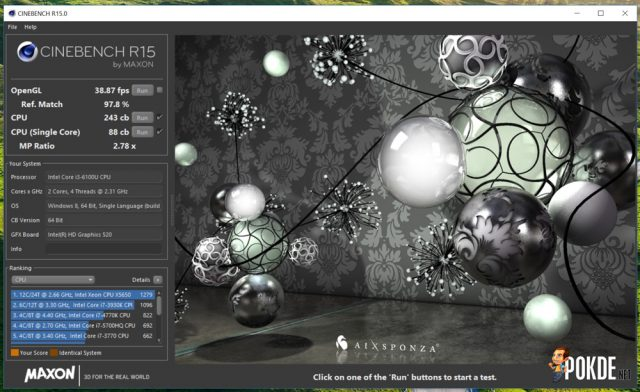Acer Switch Alpha 12 Cinebench