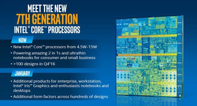 Intel Kaby Lake availability