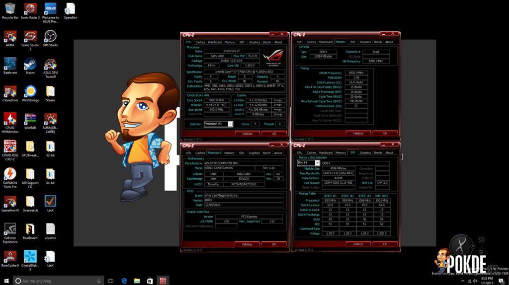 ASUS ROG Strix Z270E Review + Intel Core i7-7700K Kaby Lake CPU 35