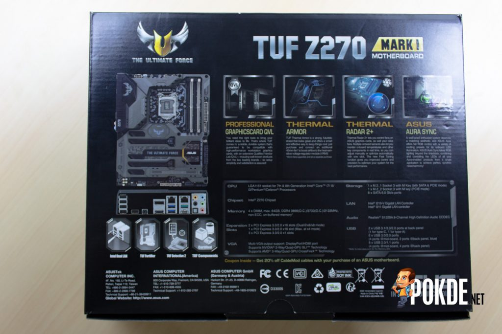 ASUS TUF Z270 Mark 1 Review - Putting out a TOUGH (No Pun Intended) Competition 20