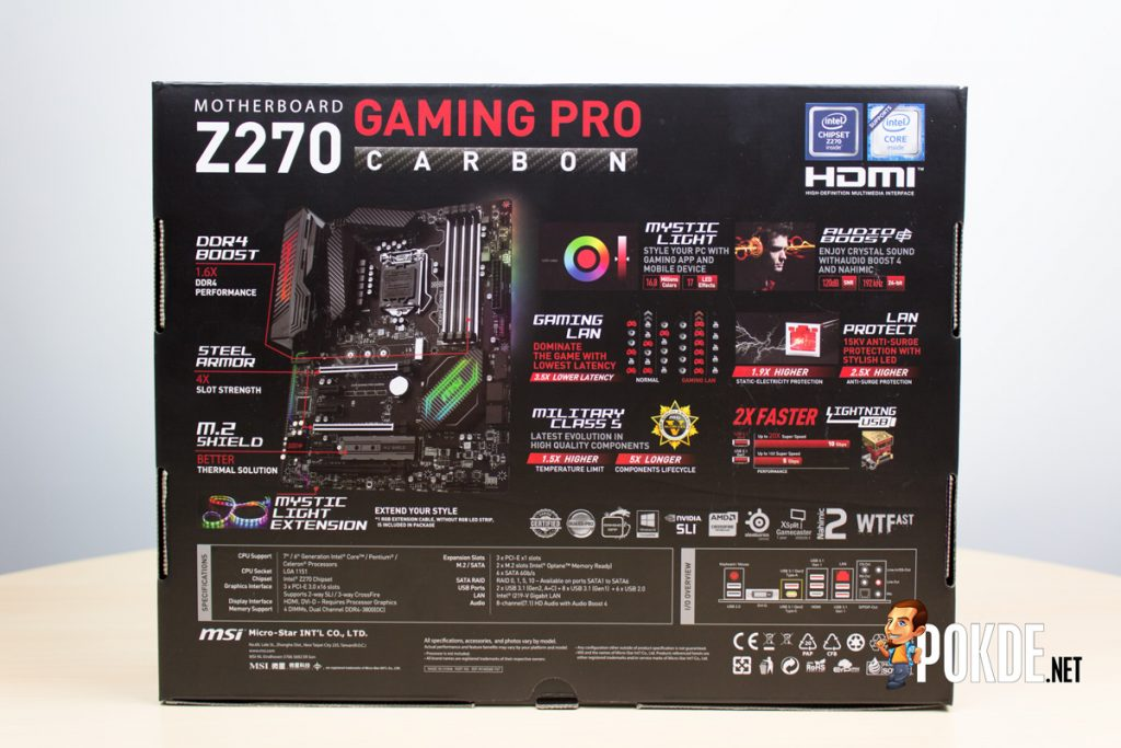 MSI Z270 Gaming Carbon Pro review — Aesthetically improved and feature rich 25