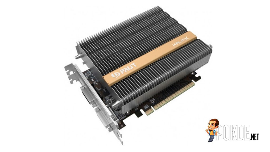 Palit launches the world's first passive cooled Palit GTX 1050 Ti KalmX 24
