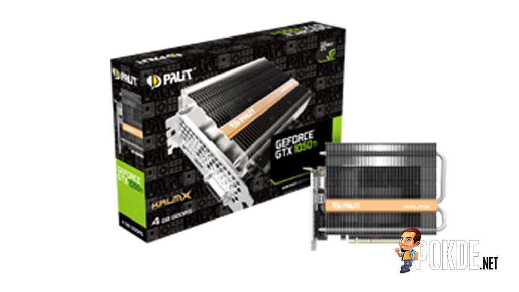 Palit launches the world's first passive cooled Palit GTX 1050 Ti KalmX 20