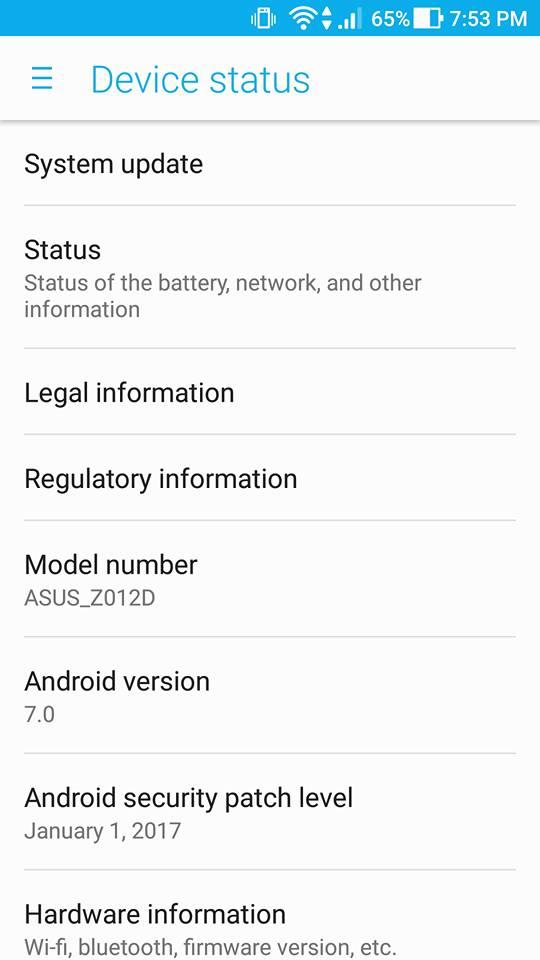 ASUS Zenfone 3 gets Nougat 7.0 Update 21