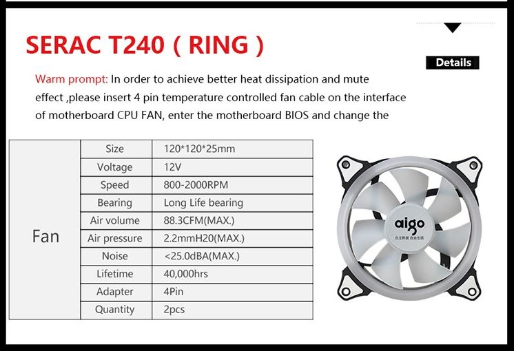 Aigo Serac T240 AIO Liquid Cooler Review - Bigger radiator, better heat dissipation 30