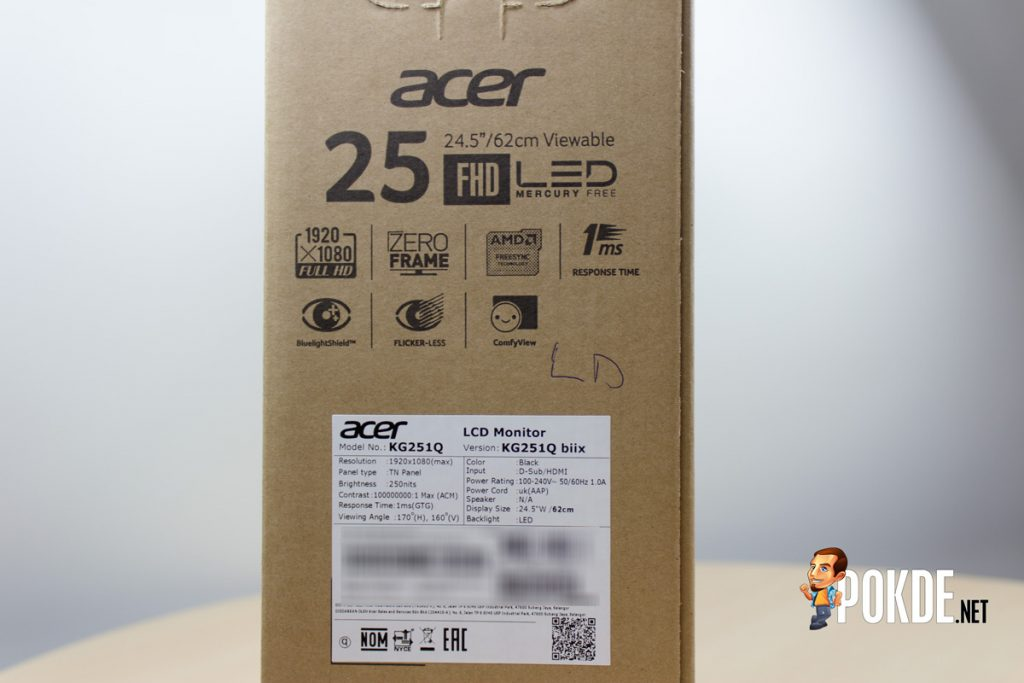 Acer KG251Q monitor review — FreeSync for cheap 24