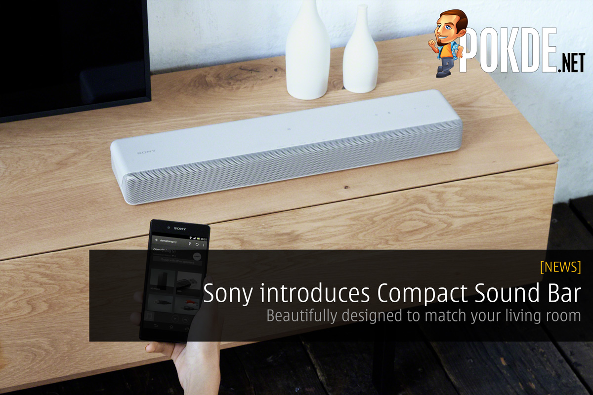 Sony Introduces Compact Sound Bar Beautifully Designed To