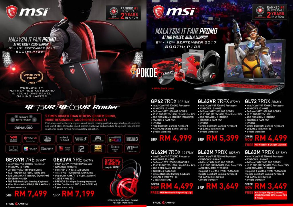 Prepare your wallets for MSI's promotions; discounts up to RM1300 on selected MSI gaming laptops! 22