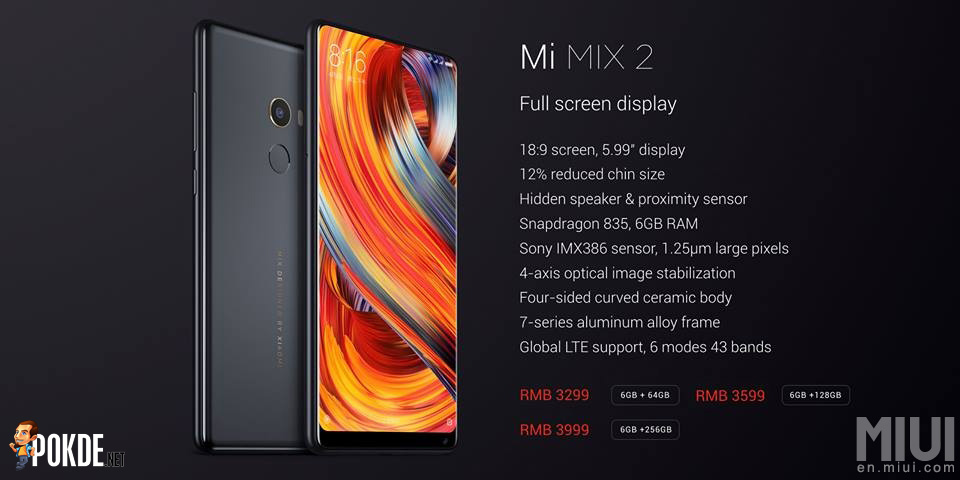 Mi Mix 2 packs Snapdragon 835 into a ceramic body; prices start from just RM2123! 22