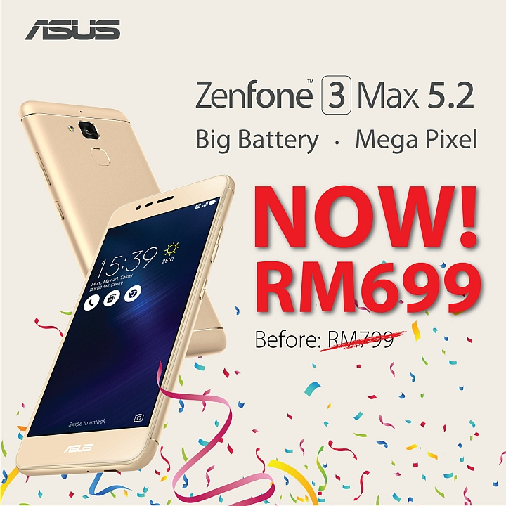 ASUS is slashing RM100 off the ZenFone 3 series! Get a battery beast or perfect live-streams with these affordable devices! 23