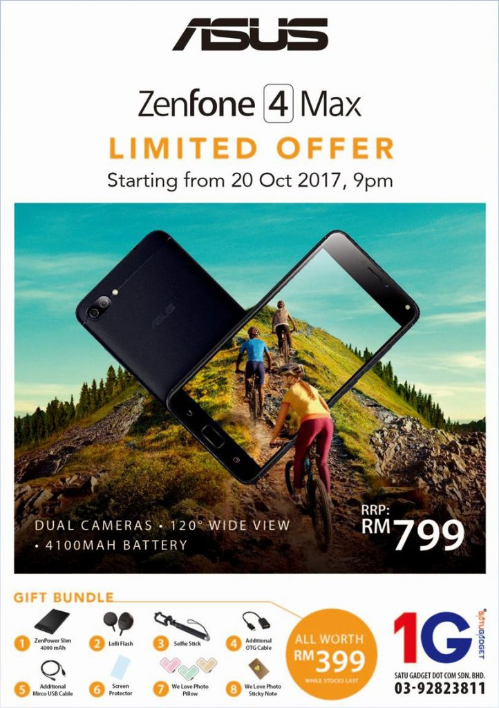 ASUS ZenFone 4 Max (ZC520KL) priced at just RM799; comes with exclusive bundle worth RM399! 26
