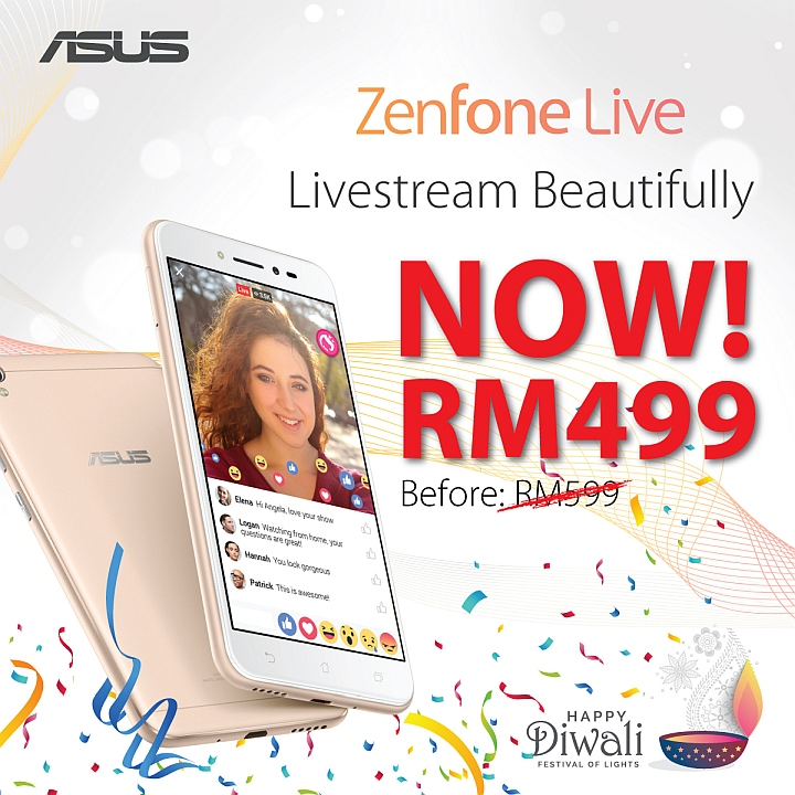 ASUS is slashing RM100 off the ZenFone 3 series! Get a battery beast or perfect live-streams with these affordable devices! 24