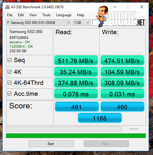 "Samsung 850 EVO 250GB 2.5"" SSD review 32"