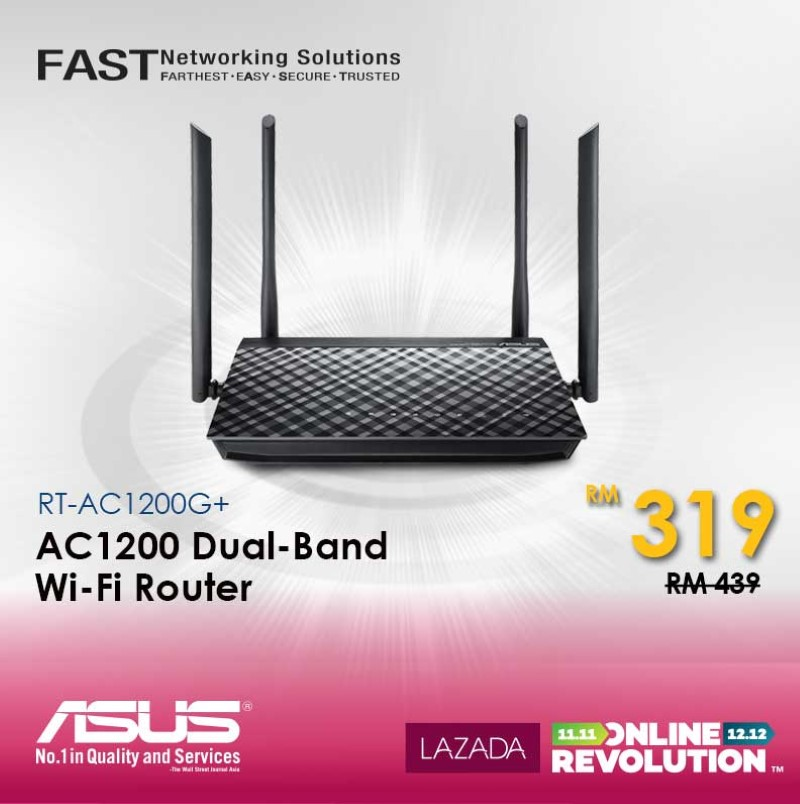 ASUS Joins The Online Revolution Sale - Get Networking Solutions, Monitor, And Mouse On Special Price! 29