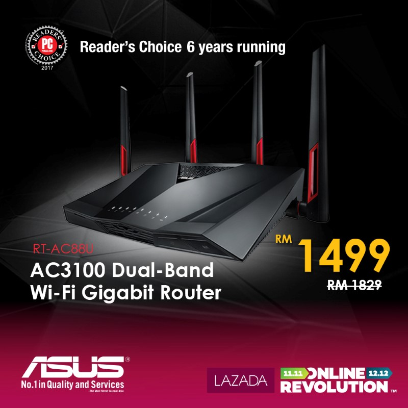 ASUS Joins The Online Revolution Sale - Get Networking Solutions, Monitor, And Mouse On Special Price! 24