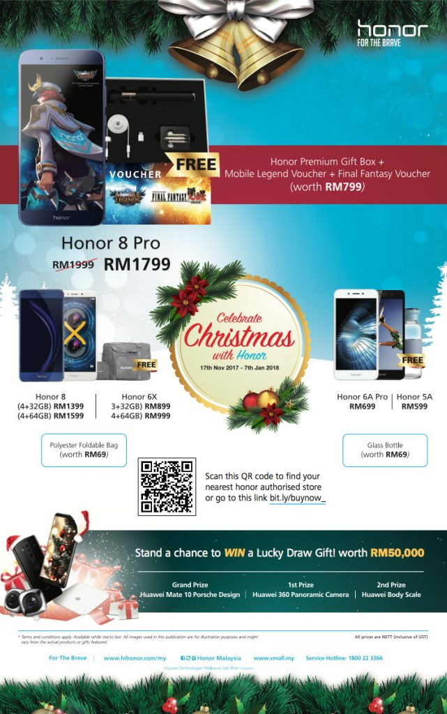 honor announces Christmas promotions; Santa came early this year! 28