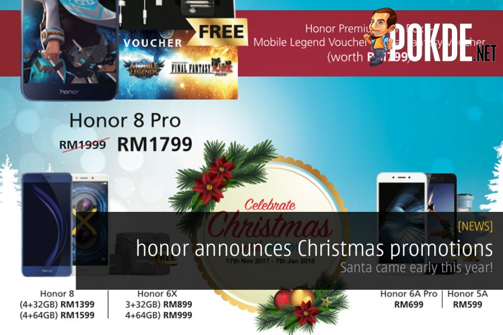 honor announces Christmas promotions; Santa came early this year! 27