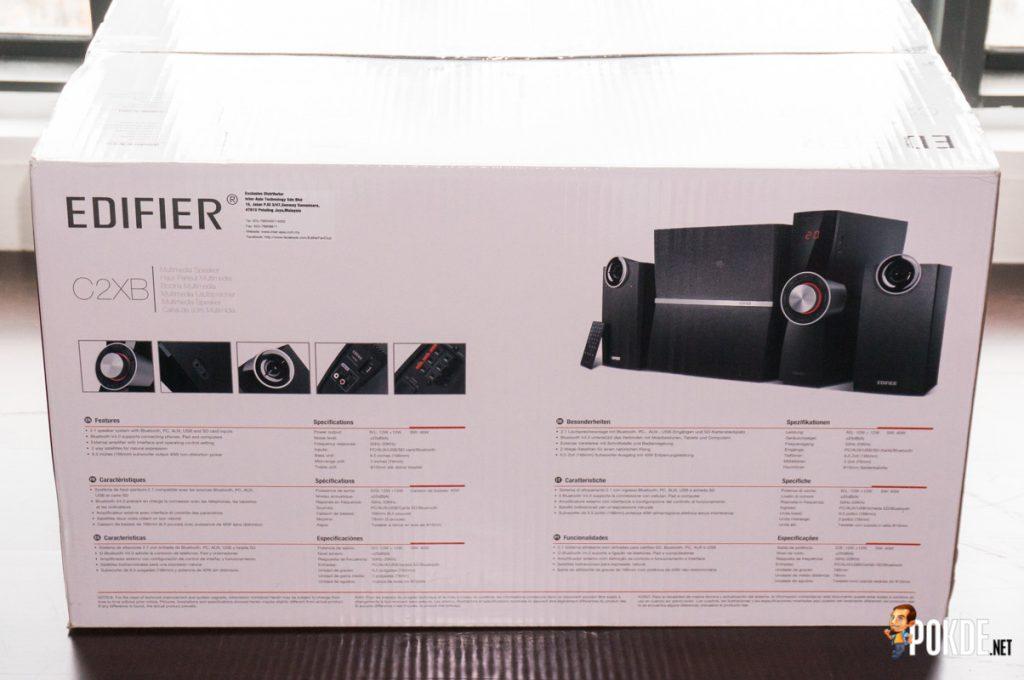 Edifier C2XB 2.1 multimedia speaker review; great looks, average sound 32