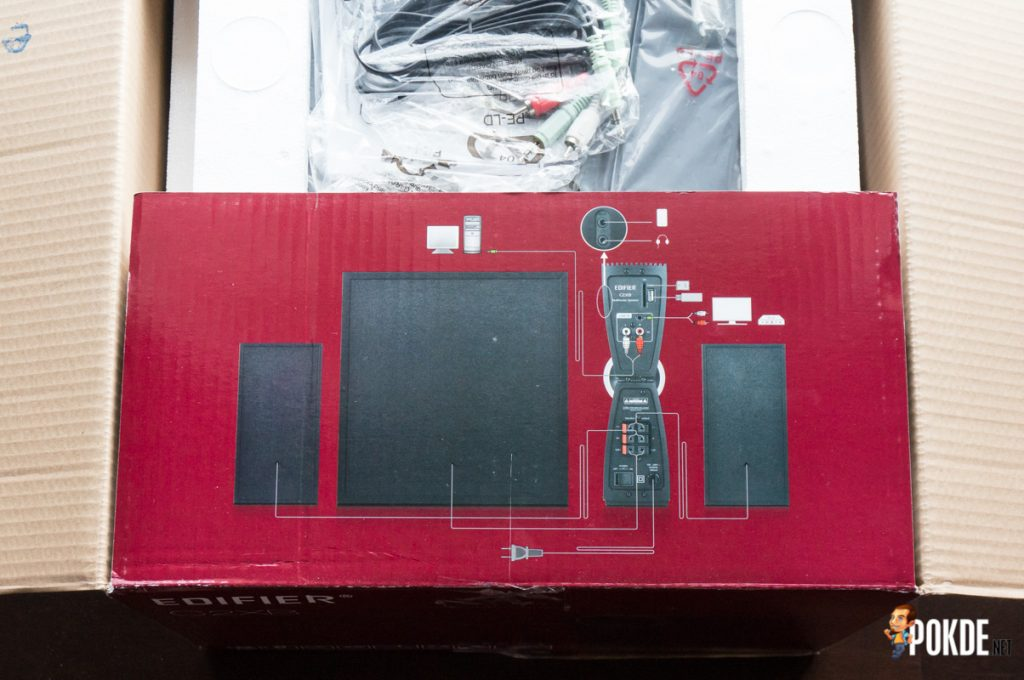 Edifier C2XB 2.1 multimedia speaker review; great looks, average sound 34