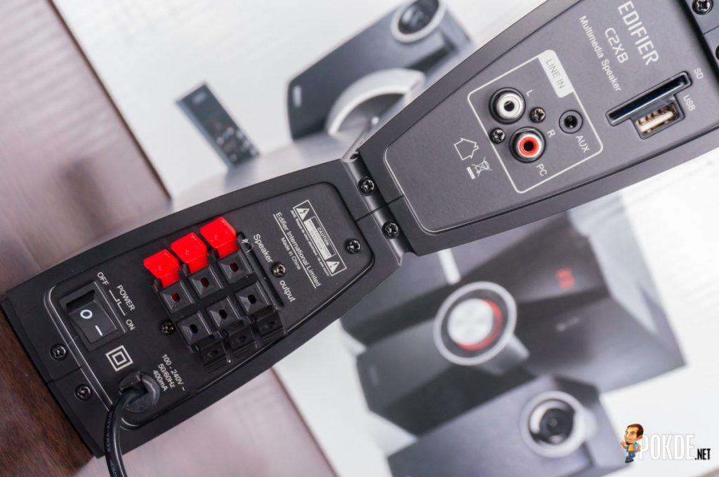 Edifier C2XB 2.1 multimedia speaker review; great looks, average sound 42