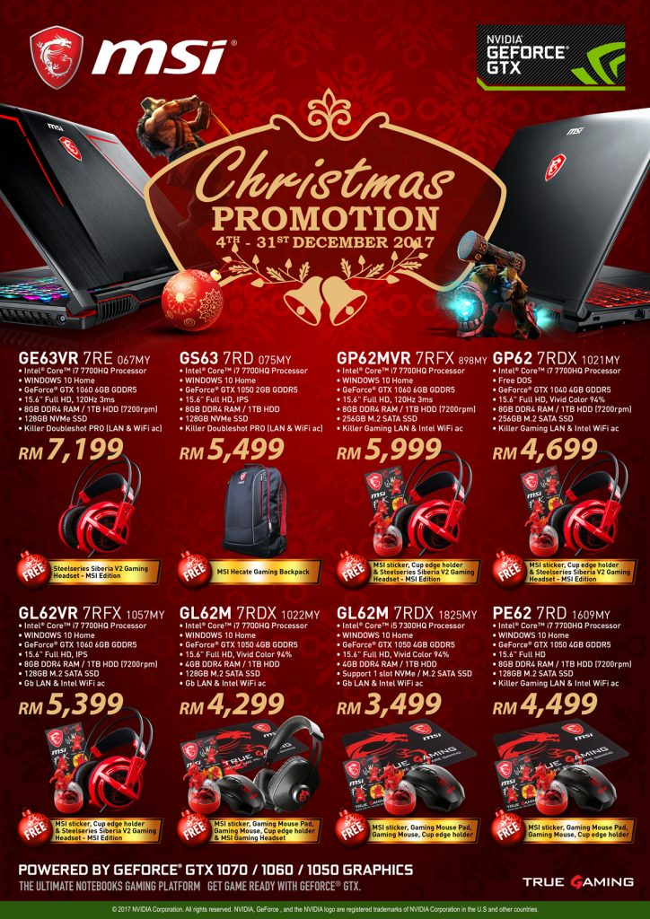 MSI Christmas 2017 Laptop Promotion; Awesome goodies bundled too! 22
