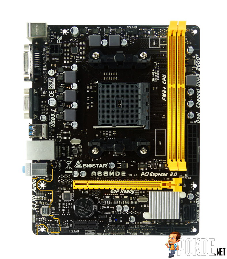 BIOSTAR releases $45 A68MDE motherboard; supports AMD Hybrid Crossfire! 24
