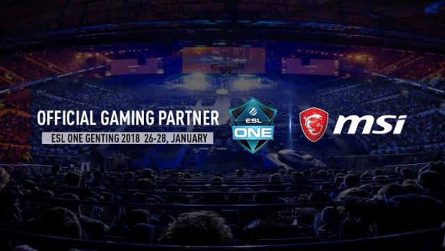 MSI Now The Official Gaming Partner For All Upcoming ESL One Events 18