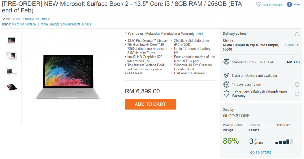 Microsoft Surface Book 2 up for pre-orders on Lazada; prices start from RM6899 21