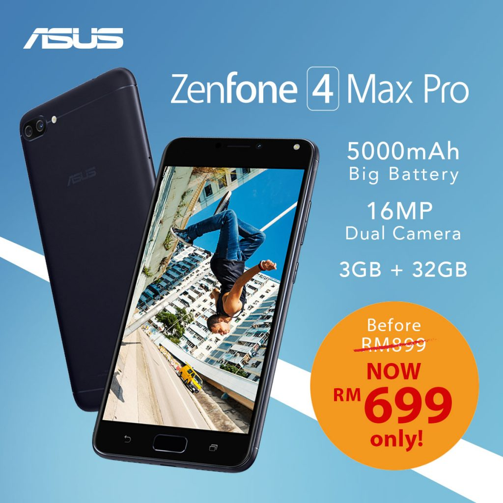 ZenFone 4 Max Pro Gets A Price Cut - RM 200 off! 22