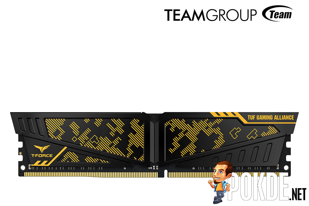 Your TUF Gaming mobo needs equally TUF RAM — get the camo-covered T-FORCE VULCAN TUF Gaming Alliance memory by TEAMGROUP! 25