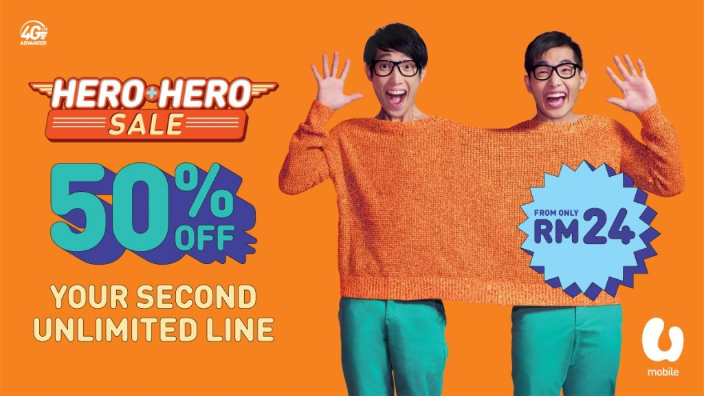 UMobile HERO+HERO Promotion - Get 50% For Your Second Line! 25