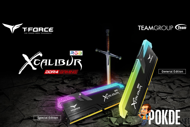 T-FORCE XCALIBUR DDR4 RAM to be priced from $235 — to be available in 3600 MHz and 4000 MHz, in two different designs 24