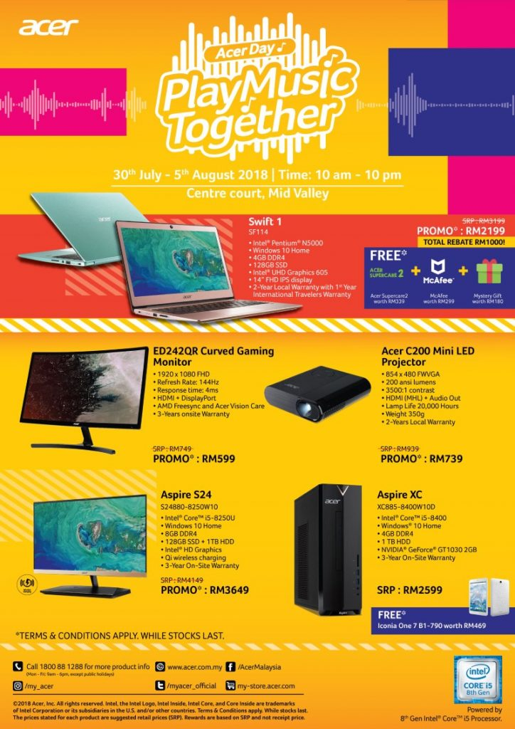 Acer Day Play Music Together Promo — Deals Include A 144hz Curved Gaming Monitor For Just RM599! 26