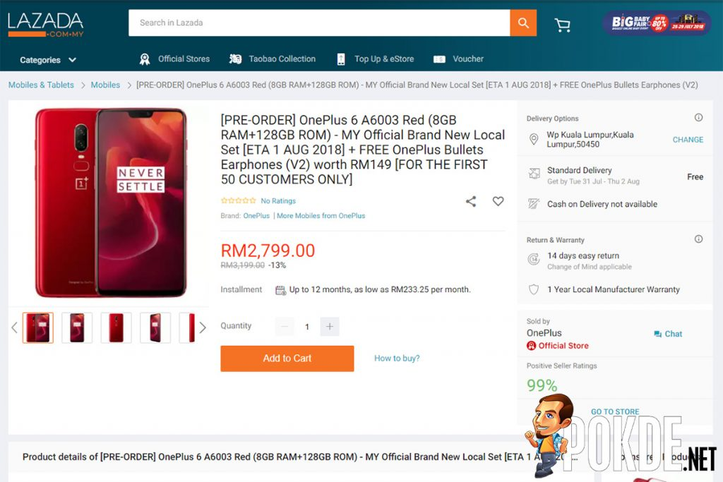 OnePlus 6 in Red is up for pre-orders NOW — first 50 customers will also receive freebies worth up to RM149! 23