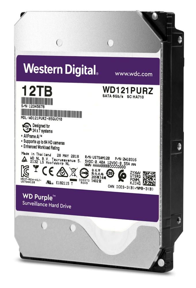 Western Digital Purple 12TB Revealed — Industry's Highest Capacity, Deep-learning Drive! 22