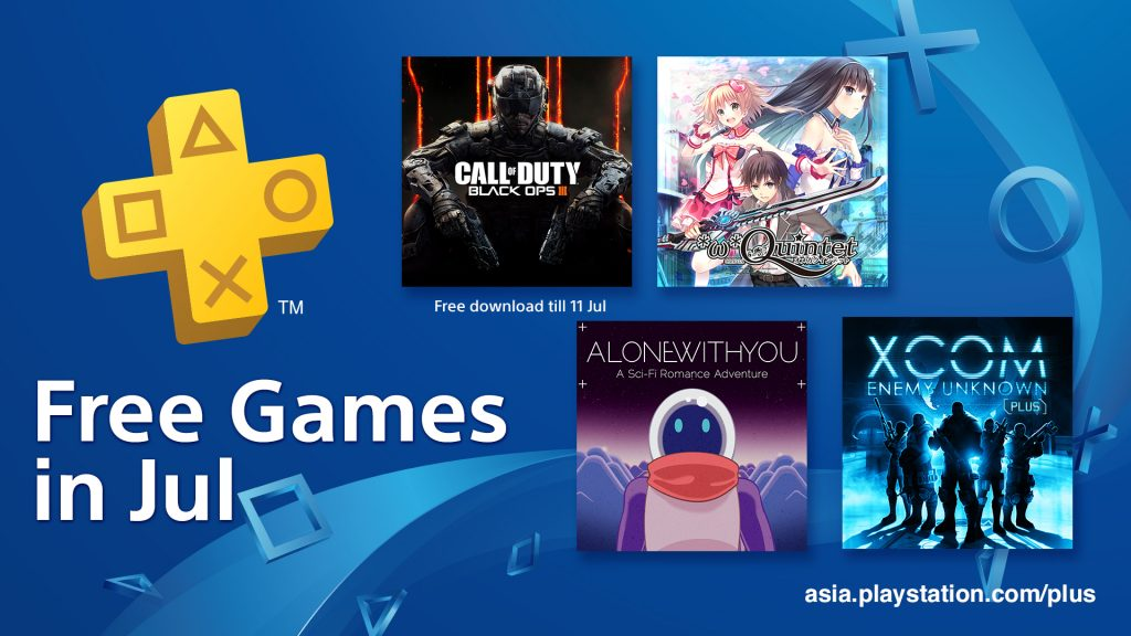 PS Plus Asia July 2018 FREE GAMES Lineup